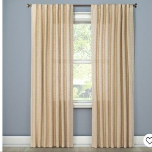 Target Threshold Curtain Panel in cream/ oatmeal